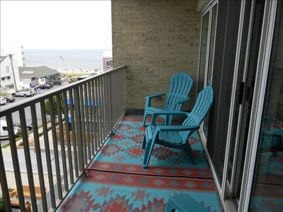 Photo for Ocean Views from Balcony !   Two Bedroom  Ocean Block Condo !