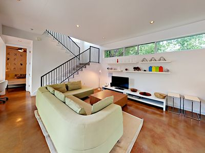 Photo for Contemporary & Chic in Austin Hill Country – Open Floor Plan – Rooftop Deck