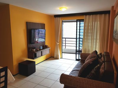 Photo for Residence Alta Vista, two bedrms, two baths, 50 meters from the Iracema Beach.