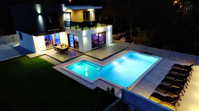 """Photo for Holiday house """"Luxury"""" Grubine with pool and amazing view"""
