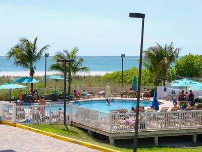 Photo for NEW LISTING! Three x 2BR/2BA Apartments For 18. Right On The Beach, Two Pools