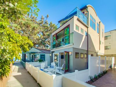 Photo for Mission Beach Vacation Rental Home!-3 bedroom Luxury overlooking Mission Bay!
