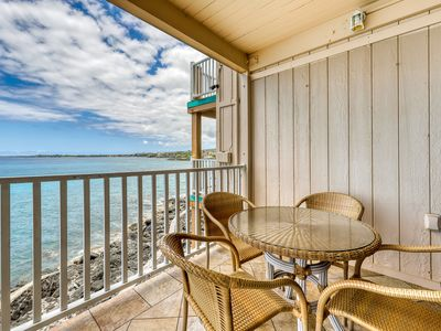 Photo for Bright, oceanfront home w/ a full kitchen, shared hot tub, & pool w/ views!