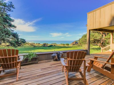 Photo for Beautiful oceanfront home with a private hot tub, bluff views & a shared pool!