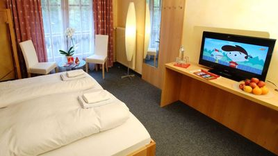 Photo for Double room shower / WC (up to 2 extra beds) - first mountain Hotel Montafon