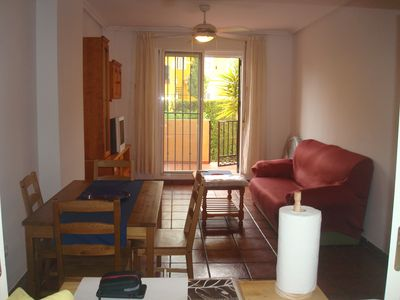 Photo for NUDIST apartment, 1 room in ground floor with terrace, parking park vera 4