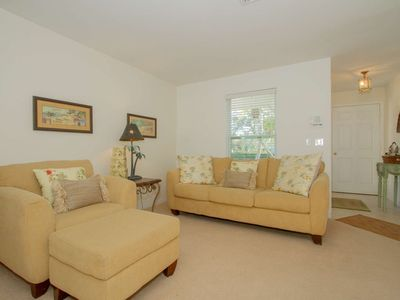 Photo for Cozy beach bahama villa in exclusive community of The Moorings/West of 41- walk & bike to beach!