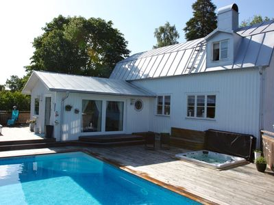Photo for Exclusive villa with private swimmingpool and spa pool - close to Stockholm City