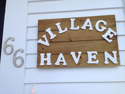 Apartment Front Door sign.  You've arrived!