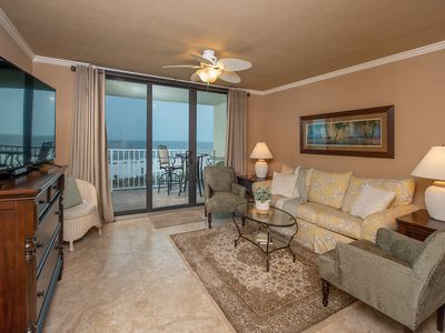 Photo for Beautiful updated 1-BD/1+1/2 BATH Beachfront Unit*AMAZING VIEW*