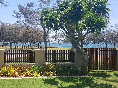 Photo for Absolute beachfront, dual living inc stunning pool, pet friendly