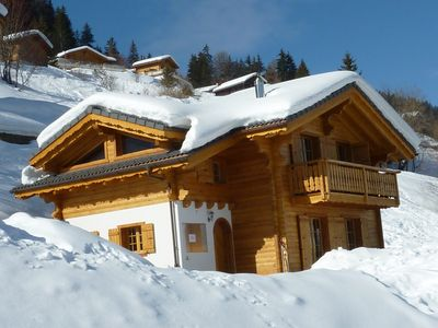 Photo for Beautiful 4 Bedroom ski chalet, wifi, fantastic views, perfect for summer too!