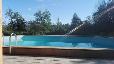 Photo for Country house and wood, 3 ha private pool