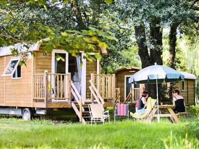Photo for Camping Huttopia Royat **** - Trailer 3 Rooms 4 Persons