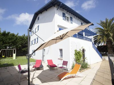 Photo for Large 5 * classified Basque house with pool in Biarritz