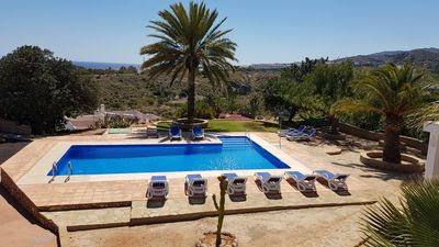 Photo for Beautiful villa with private pool and gardens and spectacular sea views
