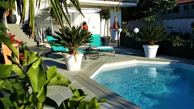 Photo for Agde: ground floor villa air-conditioned pool + private parking