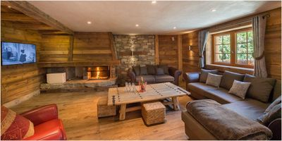 Photo for Tannière des Ours : Wonderful wooden chalet with jacuzzi and sauna
