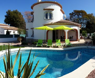 Photo for charming villa, 200m from the beach, private pool, quiet