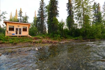 Your private wilderness cabin is streamside. Salmon can be seen in July -Aug