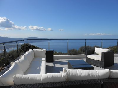 Photo for Villa with private pool and panoramic view of the sea – 8 pers