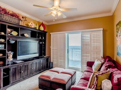 Photo for Directly on Beach ~Condo Overlooking the Crystal Blue Waters of Gulf Shores!