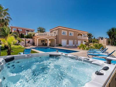 Photo for This 5-bedroom villa for up to 10 guests is located in Javea and has a private swimming pool, air-co