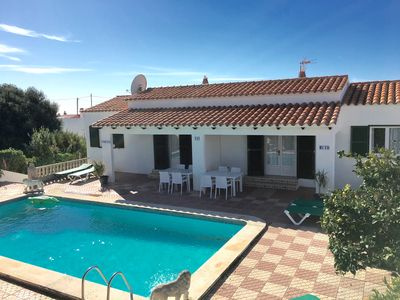 Photo for Detached Villa With Private Pool, Sunbathing, WIFI