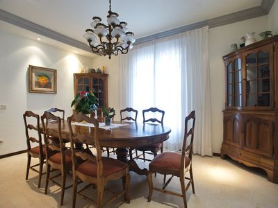 Photo for Large villa with 2200m² garden with pool 10 minutes walk from the beach
