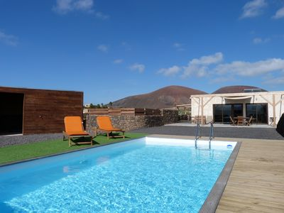 Photo for House in Lajares, views of volcanoes, heated pool