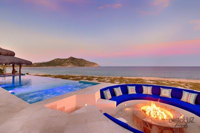 THE VIEW OF THE POINT FROM THE FIRE PIT IS SPECTACULAR BUT BETTER FROM UPSTAIRS