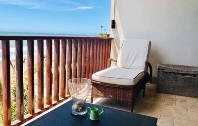 """Photo for Beautiful Apartment """"Beach Views"""" On the Beach with Balcony, Sea View, Wi-Fi & Air Conditioning; Parking Available, 3-Minute Drive from Cala de Mijas"""