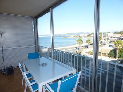 Photo for Beautiful apartment T2 with sea view. Beaches, shops and restaurants on foot.