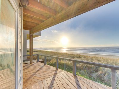Photo for Spacious oceanfront home with great views - the beach is your back yard!