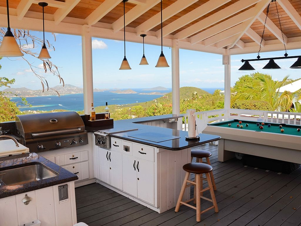 Spectacular Views From The Outdoor Kitchen / Billiard Porch. U0027
