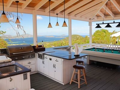 Spectacular views from the outdoor kitchen / billiard porch
