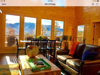 Photo for New Private luxury cabin,  3 King suites, stunning views. Sleeps 10 comfortably