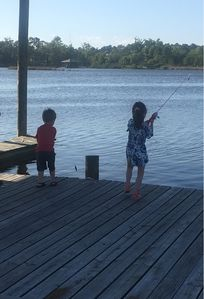 Fishing on the private dock
