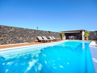 Photo for Idyllic Villa with Pool, Incredible Terrace, Garden, Volcano View, Wi-fi & Air Conditioning