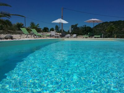 Photo for GiVans, gites of 60m², heated pool, panoramic view
