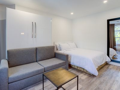 Photo for The Address on Grande-Allée - Large studio with private balcony and attractive view on Rue Grande-Allée