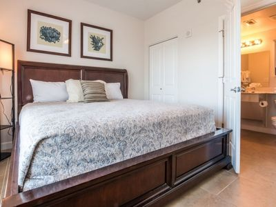 Master bedroom with private bathroom.