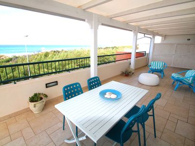 Photo for Penthouse with panoramic sea view 50 meters from the sandy beaches