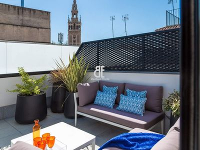 Photo for Homes in Blue - Judería II is an apartment with 2 bedrooms and 2 bathrooms for 3 people, located in the heart of Seville.