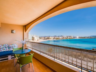 Photo for TOP LOCATION, Exclusive, modern apartment right on the beach of S'illot TOP!