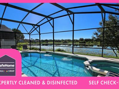 Photo for Lakefront Pool Home, 2  Master Suites, & Games Rm Disney 3 Miles | Lakeside Paradise