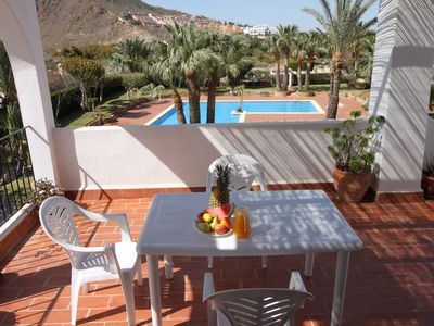 Photo for 2 Bedroom,  2 Bathroom Apartment  – Large pool - Sleeps 5 - close to beach