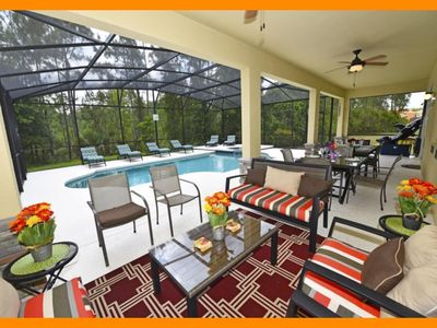 Photo for Watersong Resort 21 - 5* villa with pool, spillover tub & game room - nr Disney
