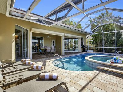 Photo for Close To Tarpon Point Direct Gulf Access West Facing Pool/Spa Home 3 Bed/3 Baths