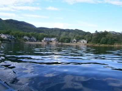 Photo for Right on the shore of Loch Melfort, sauna/spabath/rolling shower/log fire/2 TVs